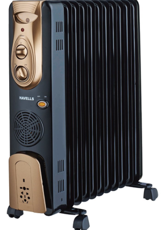 havells ofr - 11fin 2900-watt ptc fan heater (black)