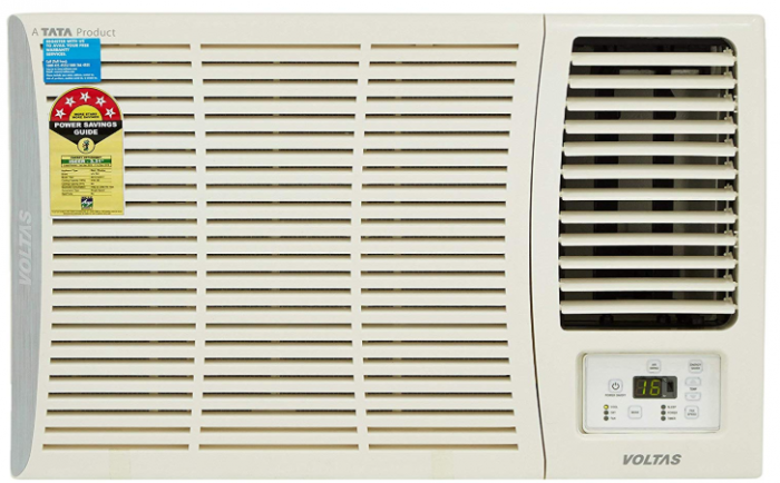 Voltas 1.5 Ton 5 Star Window AC (Copper,185 DZA 185 DZA R32, White)